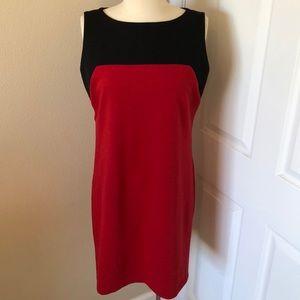 Beautiful Michael Kors Black & Red Dress Size 10
